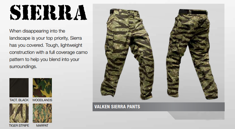 Pantalon de paintball scenario camouflage Tiger Stripes.