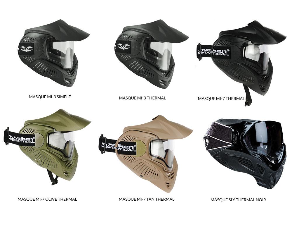 Choisissez votre masque de paintball dans votre pack