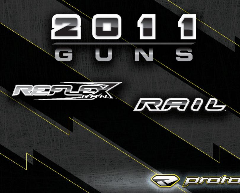 Le gammes des lanceurs de paintball Reflex et Rail en version 2011