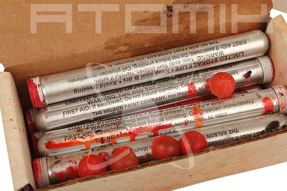 La toute première bille de paintball fabriquée par nelson