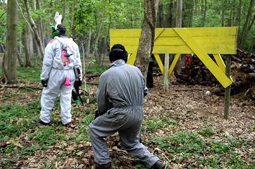Des scenarios de paintball orietes sur le lapin seront organisez