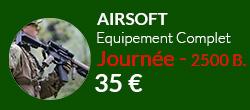equipement complet airsoft + 2500 billes sur notre terrain de paris
