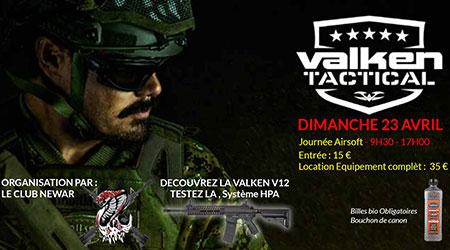 Journée airsoft avec Valken Tactical