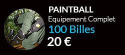 Forfait paintballcomplet 100 billes sur notre terrain de Paris$