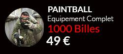 Forfait paintballcomplet 1000 billes sur notre terrain de Paris$