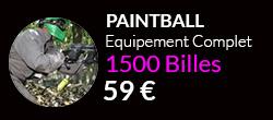 Forfait paintballcomplet 1500 billes sur notre terrain de Paris$