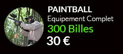Forfait paintballcomplet 300 billes sur notre terrain de Paris$
