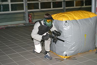 Nous pouvons monter un terrain de paintball partout grace aux structures gonflables