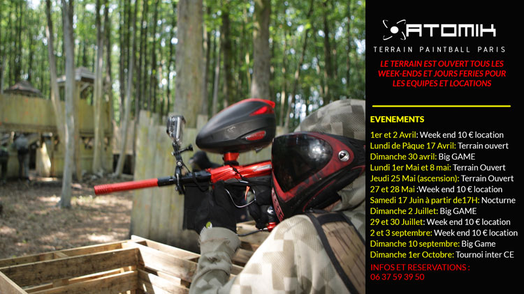 Planning des evenements de paintball sur le terrain de paintball de paris