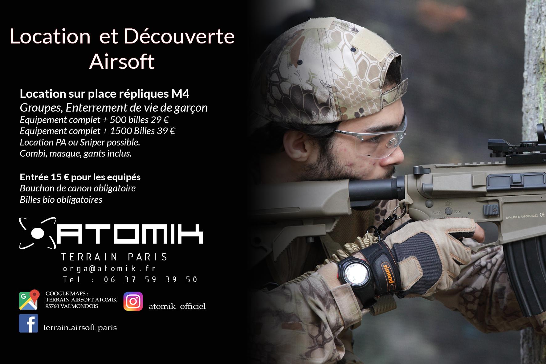 Découvrez l'airsoft sur notre terrain de Paris