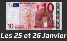Le week end à 10 € les 25 et 26 Janvier 2014