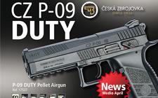 CZ P-09 DUTY, nouveautés ASG, 4.5 mm