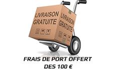 Frais de port offert des 100 €