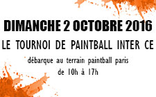 Le Tournoi de paintball inter CE
