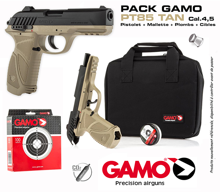gamo-pt-85-tan-pack